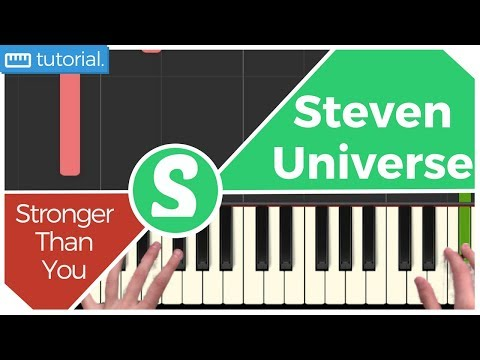 """How to play """"STRONGER THAN YOU"""" from Steven Universe  (Synthesia) [Piano Video Tutorial] [HD]"""