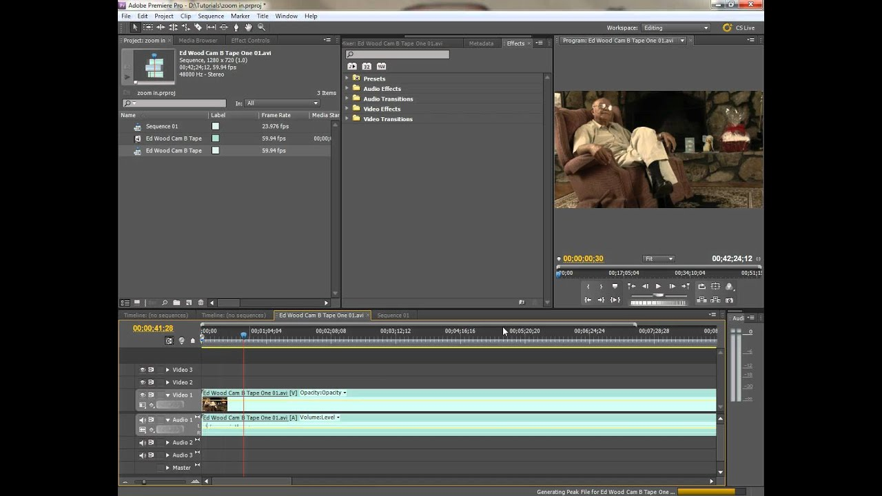 Premiere Pro: Zoom In, Re-frame, Scale or Re-position a Clip in the Program  Window