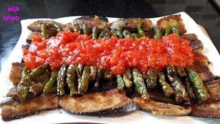 Mısırunlu Patlıcan ve Biber Kızartması Tarifi - Hülya Ketenci - Yemek Tarifleri