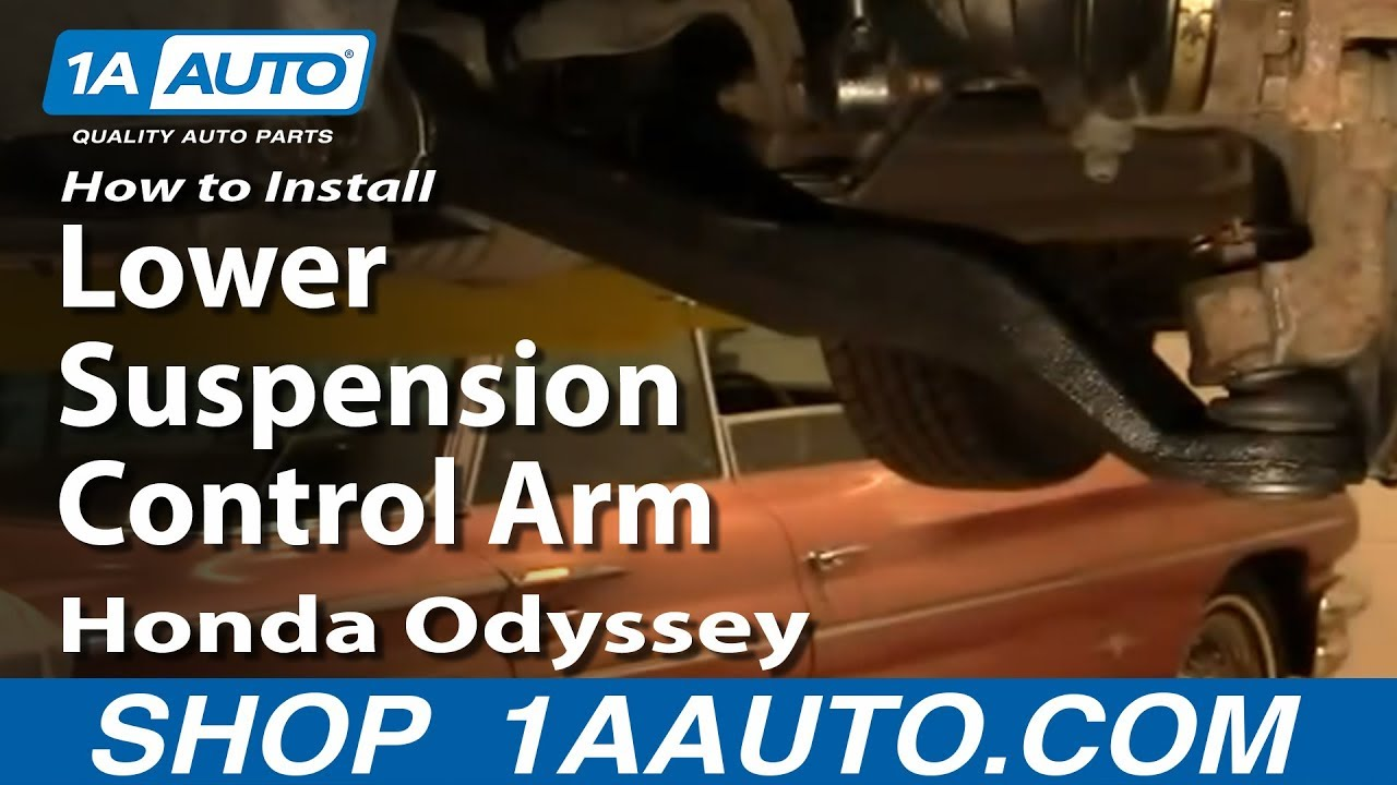 small resolution of how to replace control arm with ball joint 99 04 honda odyssey youtube 2001 honda odyssey front end diagram