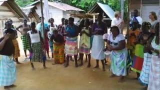 Surinam. Saramaccan singing and dancing.