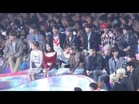 181201 블랙핑크(BLACKPINK) 방탄소년단(BTS) 신인상 수상 (Reaction) 4K 직캠 by 비몽