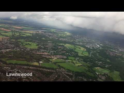 Runway 14 Take-off from Leeds Bradford Airport, Leeds, West Yorkshire, England - 10th Sept, 2017