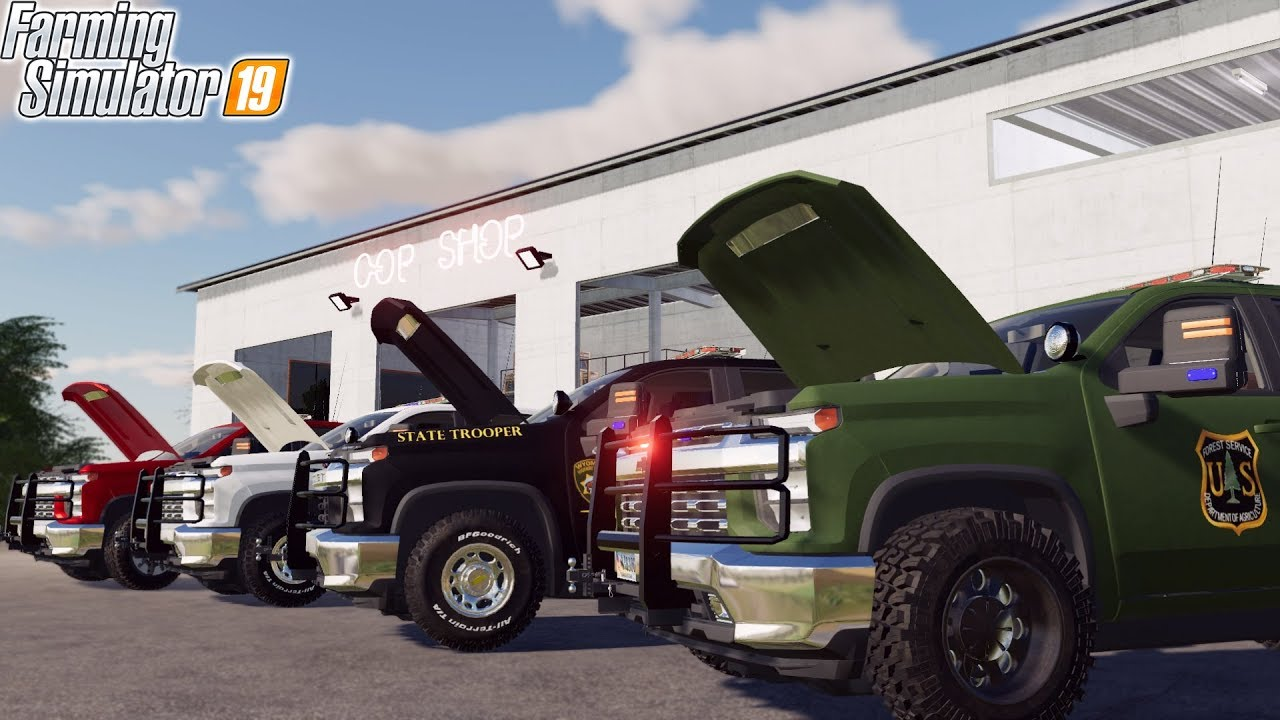 2020 CHEVY POLICE TRUCK | FARMING SIMULATOR 2019 - YouTube