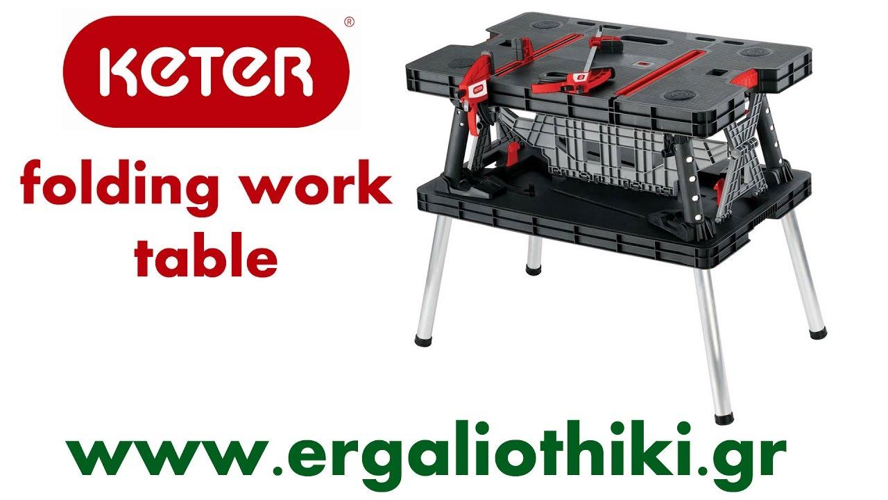 Folding table keter - Keter 17182239 Folding Work Table