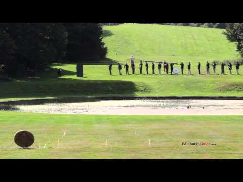 Longbow volley at Hopetoun House