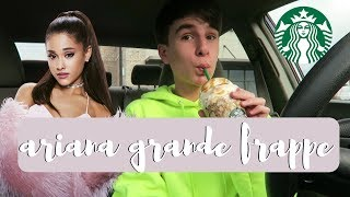 Trying the Ariana Grande Frappuccino!