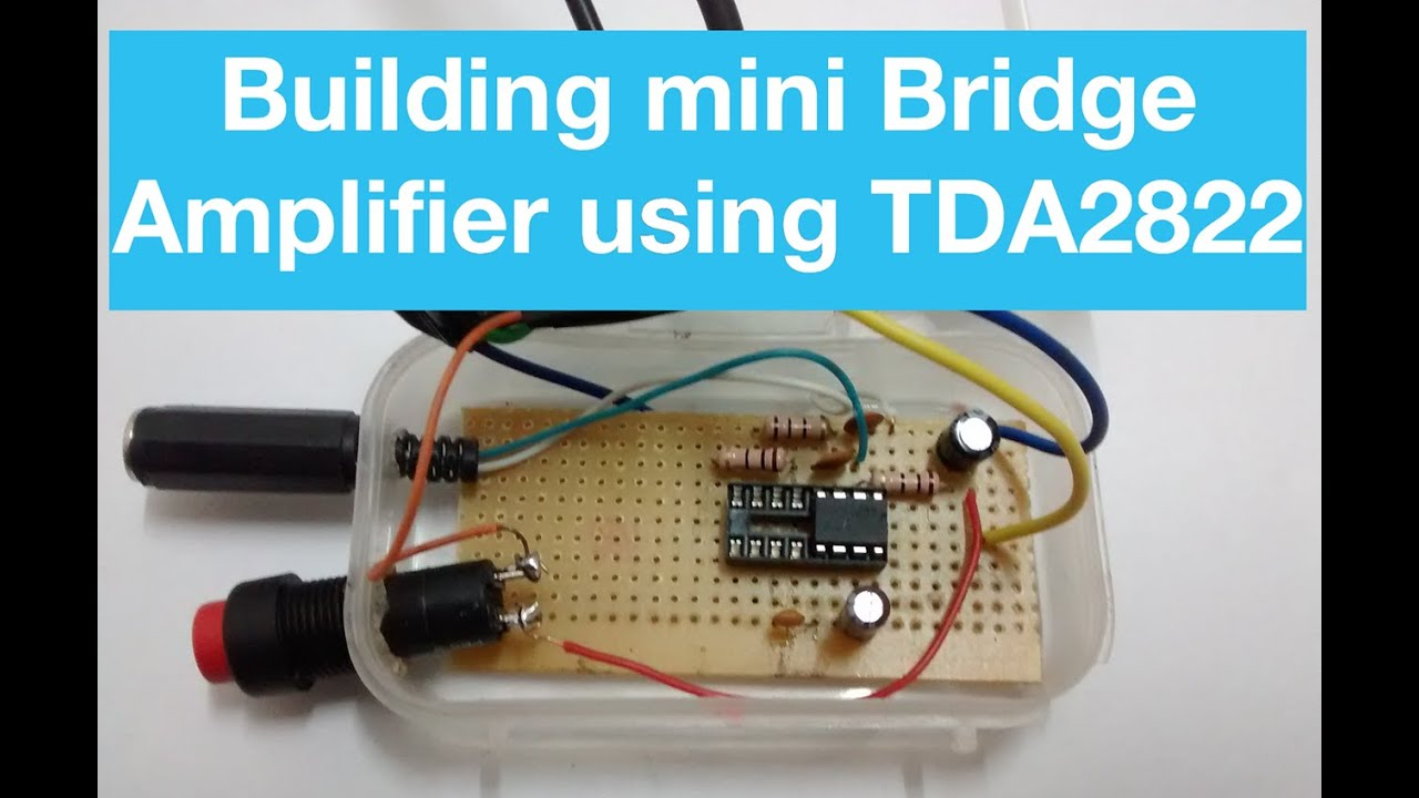 how to make mini amplifier