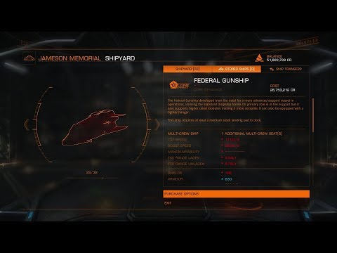 Elite Dangerous 2.4 Federal Ships Free of Rank