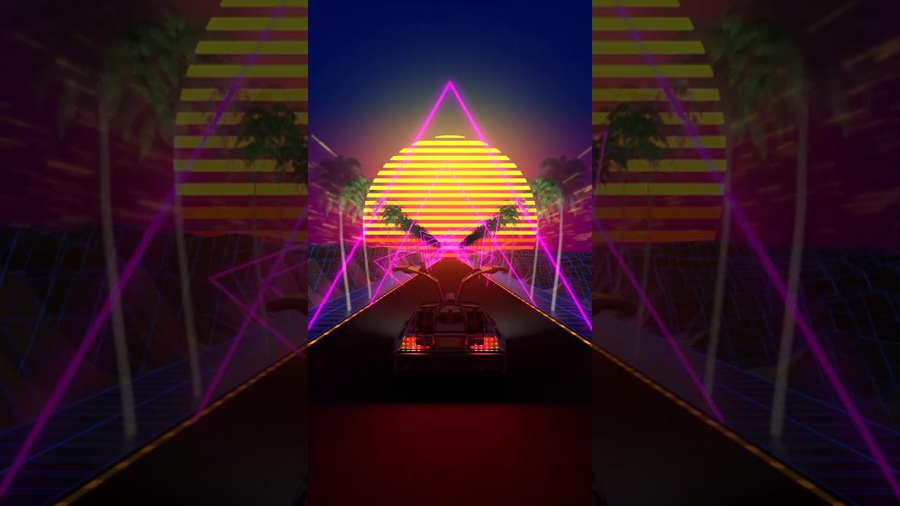 Artstation Back To The Future Movie Delorean Sun Loop Live