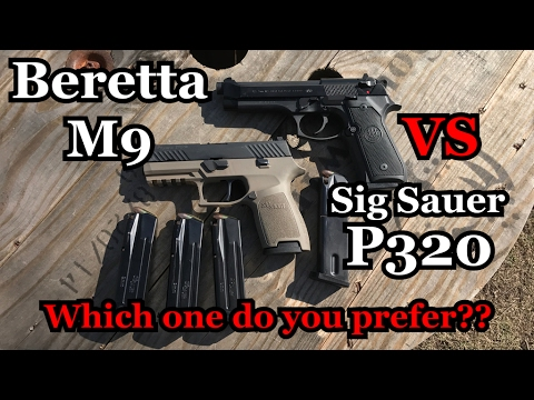 Beretta M9 vs Sig Sauer P320 | Which on do you prefer??