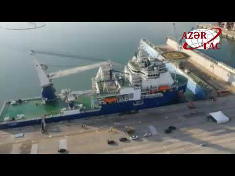 President Ilham Aliyev attended launch of Khankendi subsea construction vessel