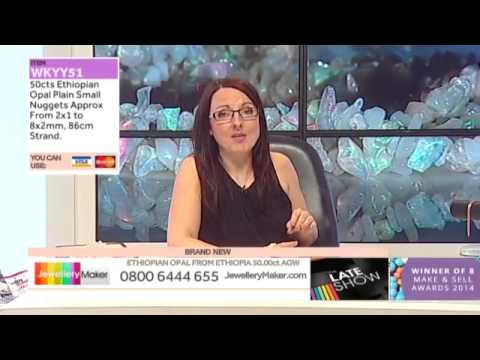 Ruby and Amethyst for jewellery making: JewelleryMaker late show LIVE 01/04/2015