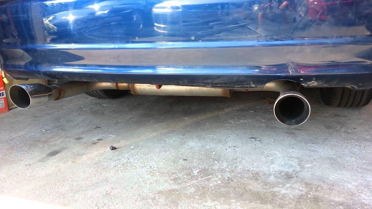 Em2 honda civic magnaflow custom dual exhaust - YouTube