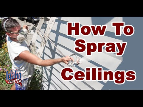 Spraying Textured Ceilings with an Airless Paint Sprayer Painting