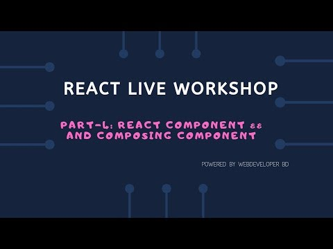 4. Introduction to React component and composing component | React Js Bangla tutorial thumbnail