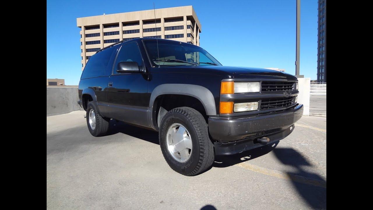 Tahoe 1995 chevy tahoe 4 door : 1999 Chevrolet 2 Door Tahoe 4x4 Sport Black For Sale - YouTube