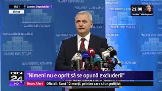Liviu Dragnea, scos din sărite de întrebările jurnalistului Digi24 Cristian Andrei