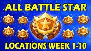 ALL SECRET WEEK 1-10 BATTLE STAR/HIDDEN BATTLE STAR LOCATIONS! FORTNITE LOADING SCREENS SEASON 6