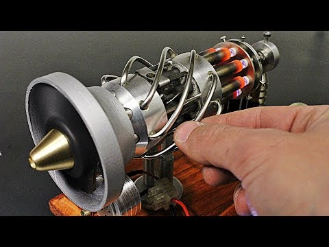 16 Cylinder Gas Powered Stirling Engine