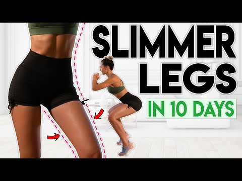 SLIMMER LEGS In 10 Days (lose Thigh Fat) | 8 Minute Home Workout