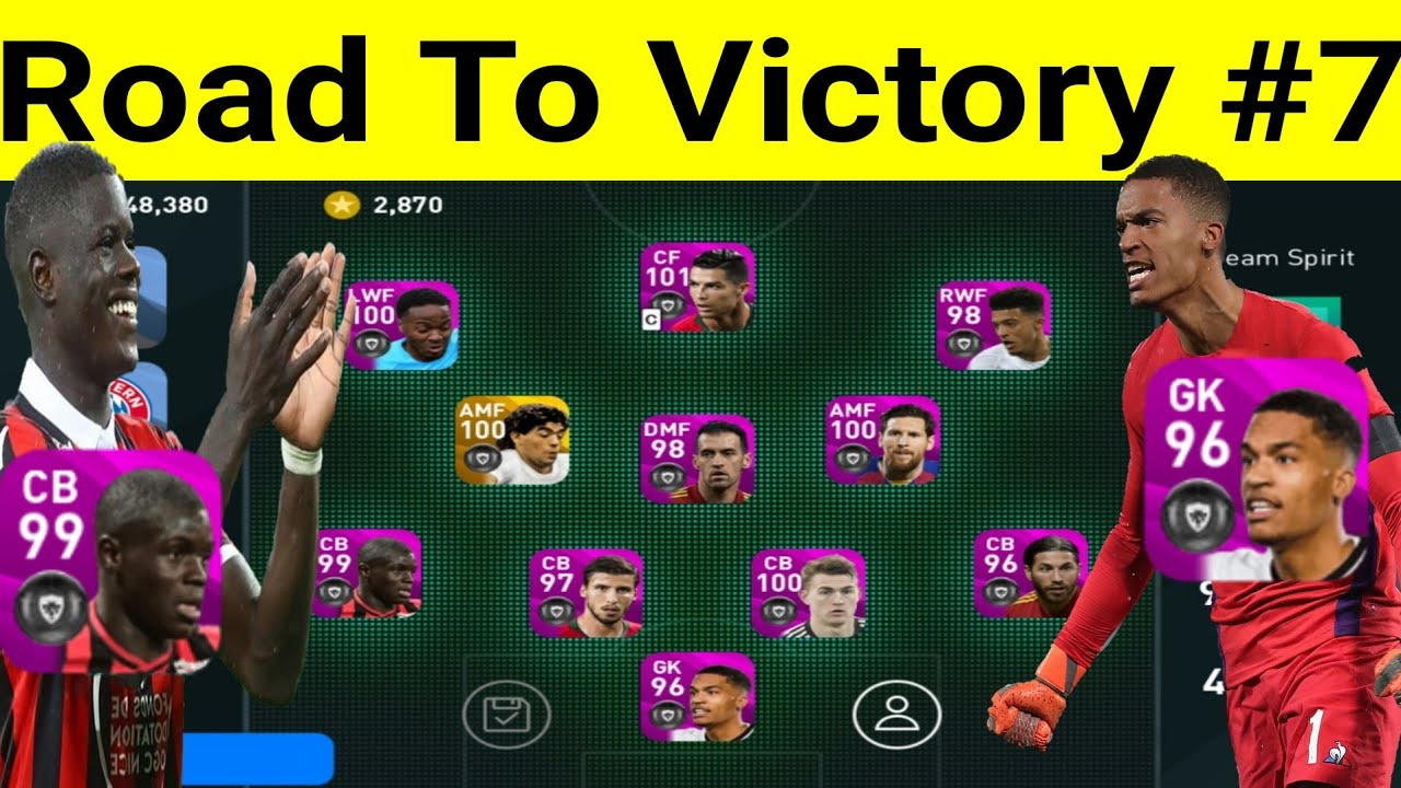 Pes 2020 Mobile Road To Victory 7 M Sarr Adama Traore Lafont Bruno Fernandes Gameplay Review Youtube