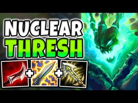 NUCLEAR ONE-SHOT THRESH MID! THE MOST BROKEN GOD-TIER ASSASSIN! League of Legends