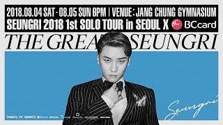 Baixar SEUNGRI - 2018 1st SOLO TOUR 'THE GREAT SEUNGRI' in SEOUL #1