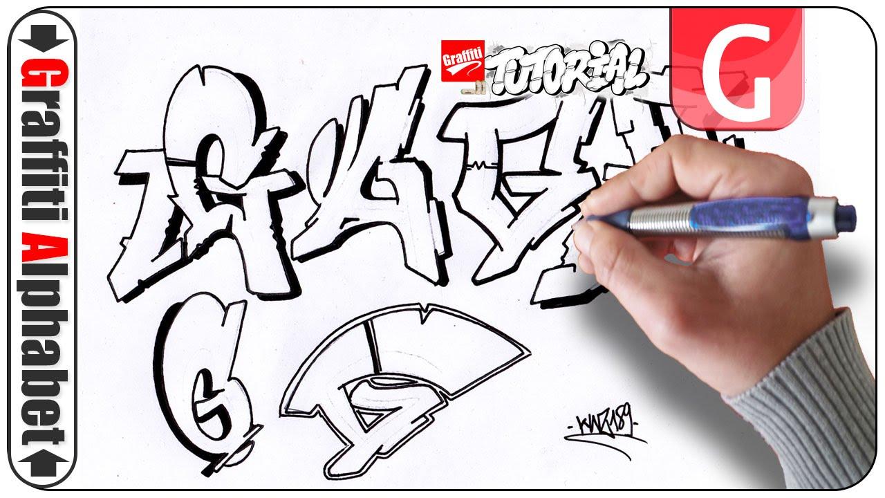 Graffiti Alphabet Letra G Buchstabe G Letter G Youtube