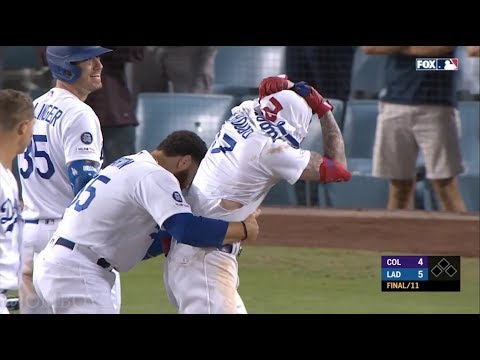 Three Dodger Rookies hit Walk Off homers in a row, a breakdown