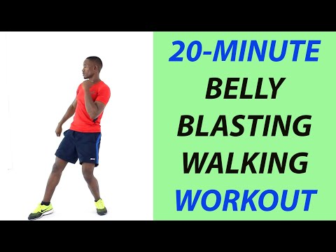 Belly Blasting Walking Workout   20-Minute Indoor Walking Workout