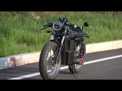 denzel electric cafe racer youtube. Black Bedroom Furniture Sets. Home Design Ideas