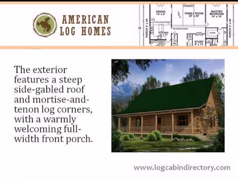 Log Home Directory Floorplan Showcase - The Aspen by American Log Homes