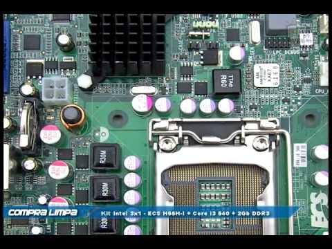 Kit Intel - ECS H55H-I + Core i3 540 + 2Gb DDR3 Kingston