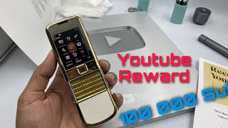 Youtube Reward For Passing 100,000 Subscribers And Build NOKIA 8800 Gold Arte...