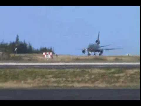 KC-10 Extender Takeoff from Wake Island