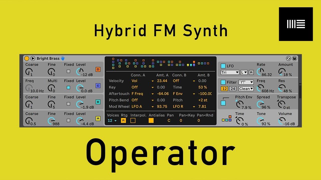 [Advanced Ableton 03]  OperatorとFM音源について