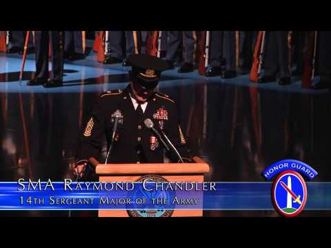 Sergeant Major Of The Army Raymond F. Chandler III's Retirement Ceremony