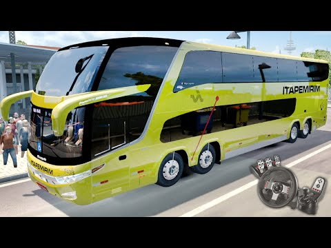 Euro Truck Simulator 2 - EAA Bus - Itapemirim - Marcopolo G7 1800 DD 8x2 - Com Logitech G27