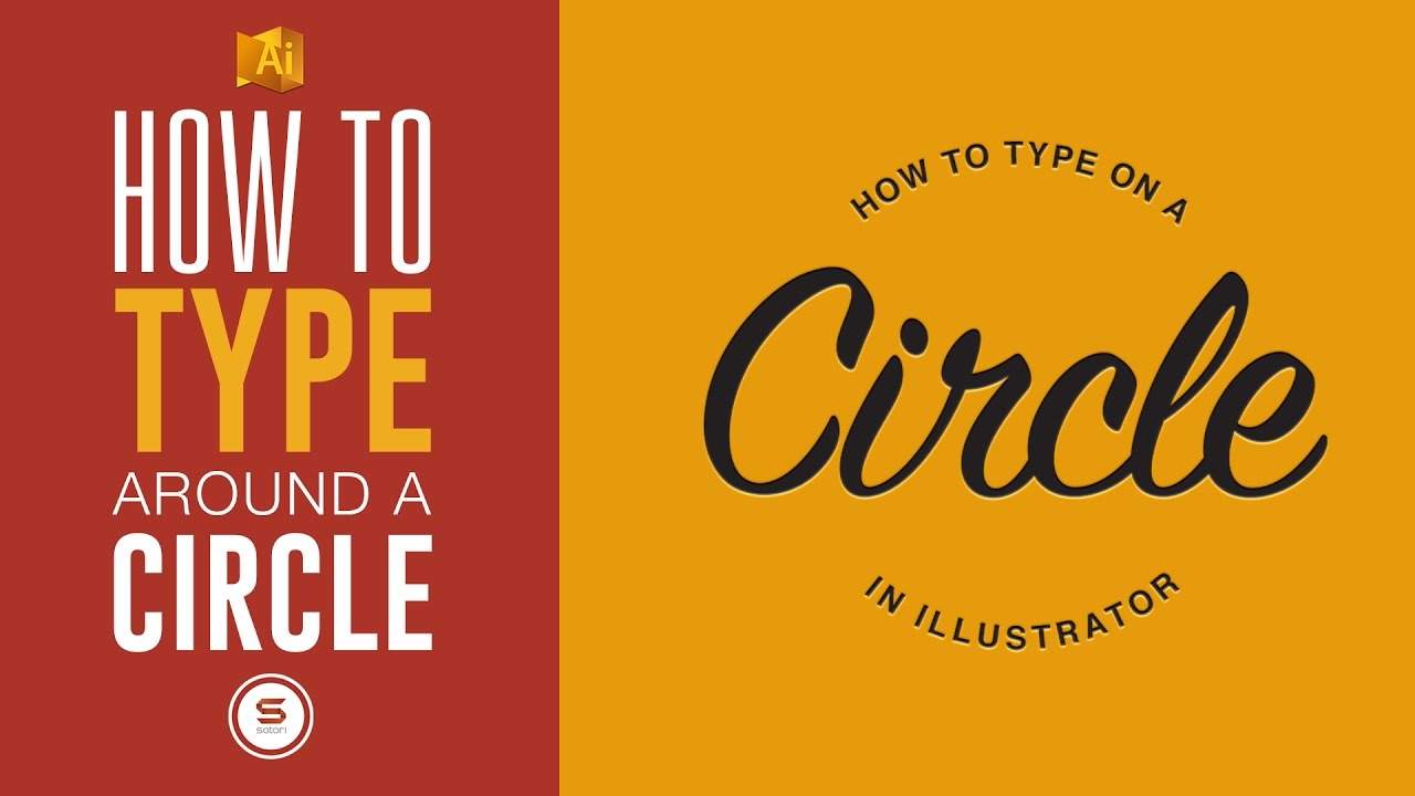 How To TYPE ON A CIRCLE - Illustrator Circle Text