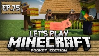 Survival Let's Play Ep. 75 - FARMING AND FINDING DIAMONDS!!! - Minecraft PE (Pocket Edition)