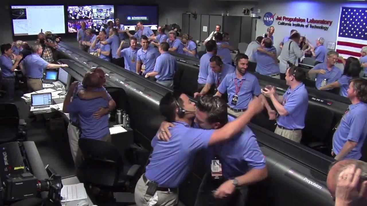 The Landing of Curiosity   NASA JPL MSL Mars Rover HD ...