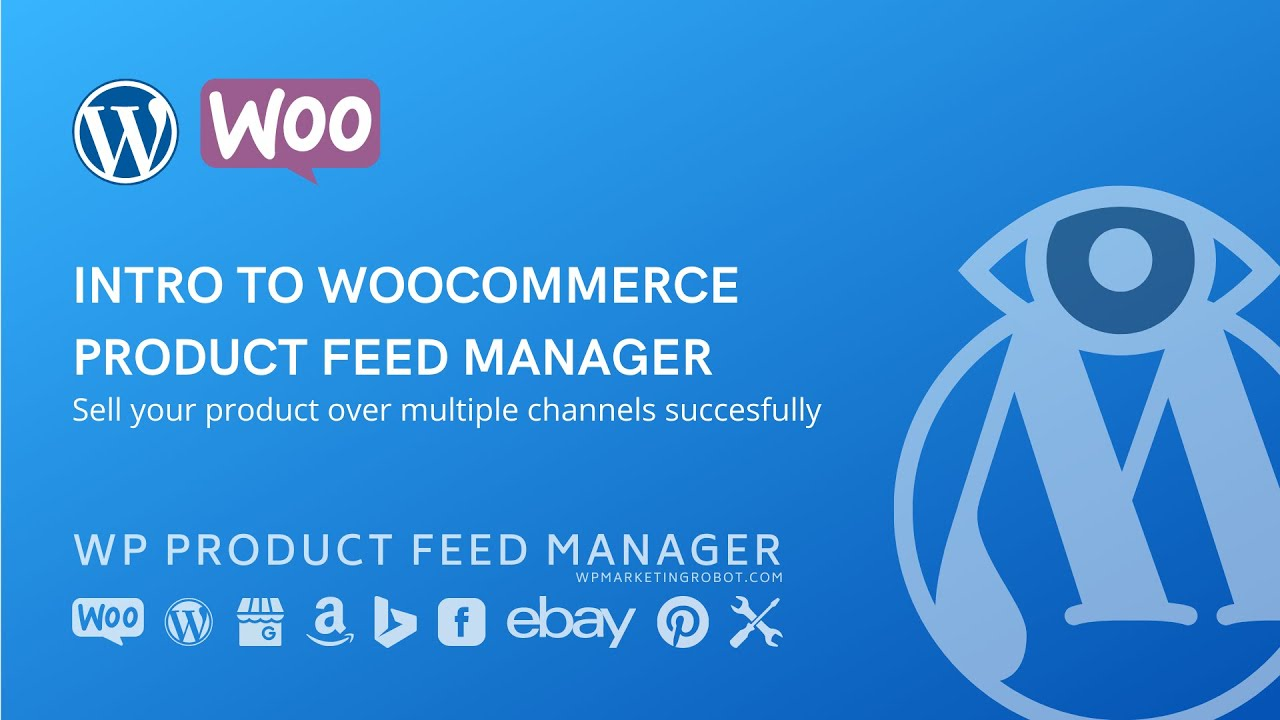 Woocommerce feed manager plugin