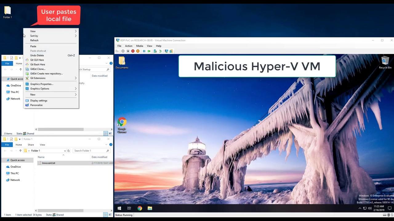 Reverse RDP – Paste-Only Attack Demo On Hyper-V   Windows RDP
