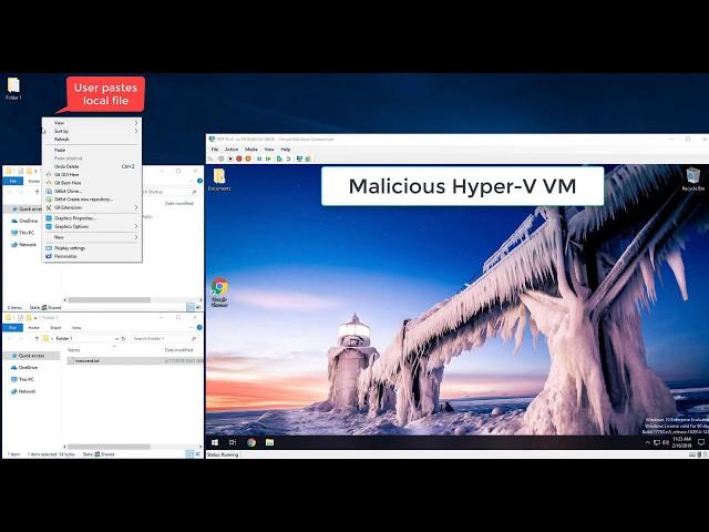 Remote Desktop Protocol Vulnerability Demo – Paste-Only Attack On Hyper-V Windows RDP