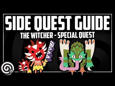 SIDE QUEST GUIDE - Trouble in the Ancient Forest - The Witcher | Monster Hunter World