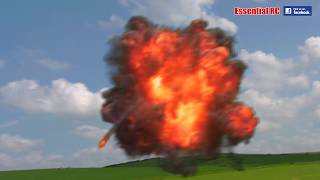 P-51 Mustang ATTACK ! (EXPLOSIONS, BOMBING Run, DOG FIGHT and Gun BATTLE)