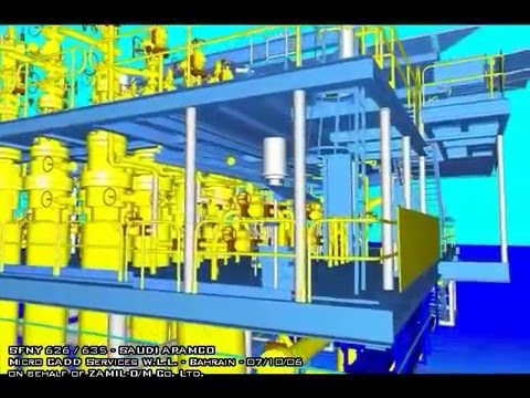 Offshore Platform - 3D model Walkthru