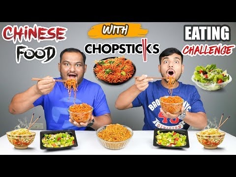EATING CHINESE FOOD WITH CHOPSTICKS | Noodles Eating Challenge | Eating Competition | Food Challenge
