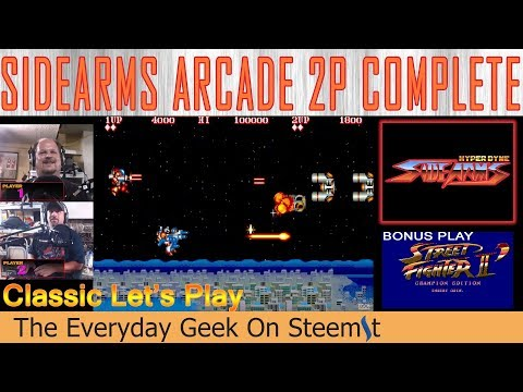 EGOS Let's Play Sidearms Arcade 2P and Street Fighter II Championship Ed.